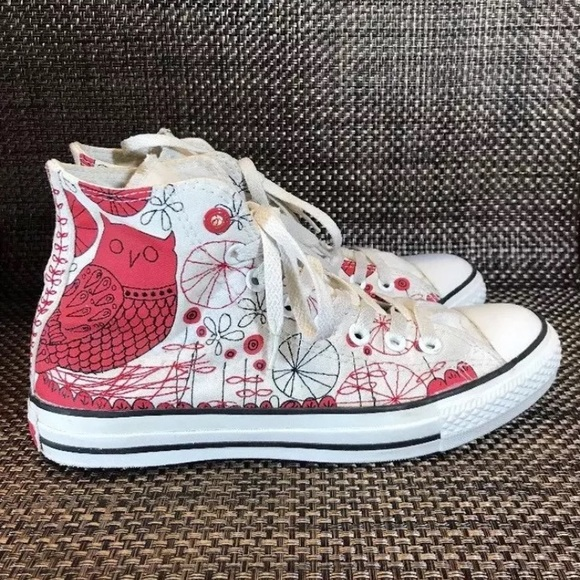 751b9cebeb6c Converse Shoes - CONVERSE RED 9 Owl Chuck Taylor High Top Shoes